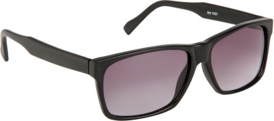 Cristiano Ronnie Full Black Rectangular Sunglasses