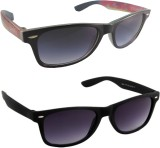 HE WAYFARER Wayfarer Sunglasses (Black, ...