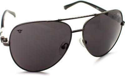 Abqa Skull Design On Frame Arm Hi Quality Black Hawk Series Limited Edition Aviator Sunglasses
