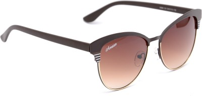 Amaze AM0805 Oval Sunglasses(Brown)