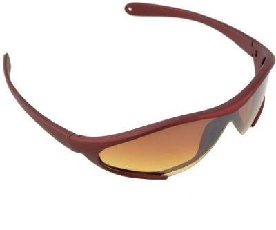 Lime Wrap-around Sunglasses