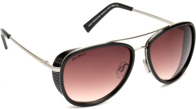 Joe Black JB-816-C3 Aviator Sunglasses(Brown)