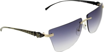 Vast 6809_PANTHER_RIMLESS_ANTIGOLD_W Over-sized Sunglasses(Blue)