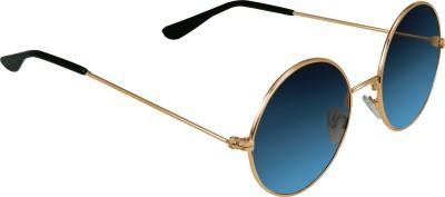 Garmor (8903522114922 /Blue Color Gold Frame) Round Sunglasses