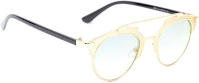 Amaze Green Medium Round Sunglasses