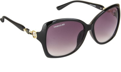 Danny Daze D-253-C1 Over-sized Sunglasses(Black)