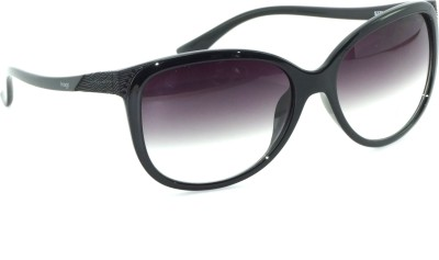 IMAGE IMAGE-373-C1 Round Sunglasses(Black)