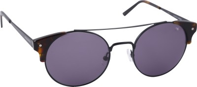 Mango Pickles RO-5010-Black-Gunmetal-Demi Round Sunglasses(Black)