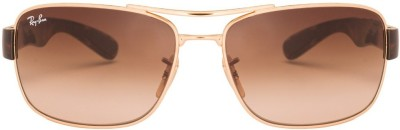 Ray-Ban RB3522001/13 Rectangular Sunglasses(Brown) at flipkart