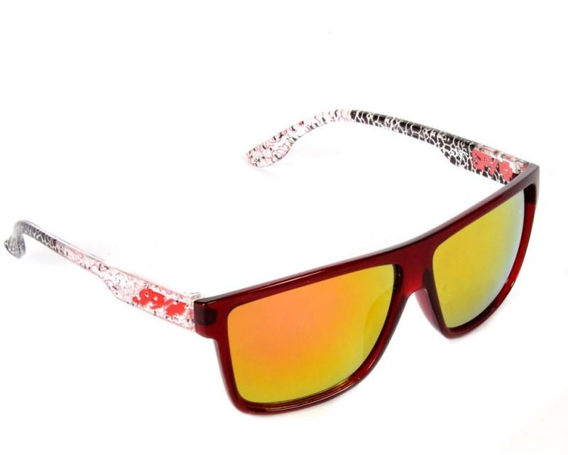 Red Knot TOPUP-29133-RED-YEL-ORG Rectangular Sunglasses(Yellow)