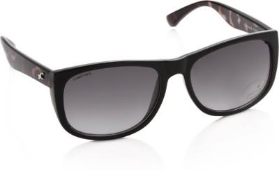 Fastrack P238BK2F Over-sized Sunglasses(Grey)