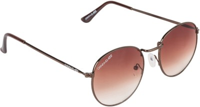 Danny Daze D-2601-C4 Round Sunglasses(Brown)