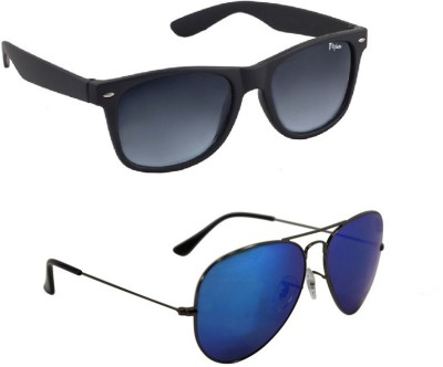 VIJEX WAYFARER | BLUE MIRRORED Wayfarer, Aviator Sunglasses