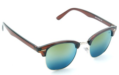 Vast COOL_CLUBMASTER_BROWN_MIRROR_m Wayfarer Sunglasses(Green)
