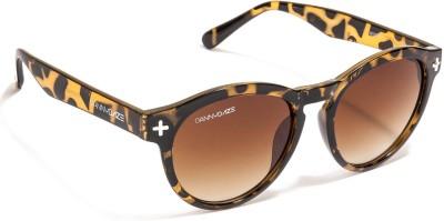 Danny Daze D-2508-C3 Round Sunglasses(Brown)