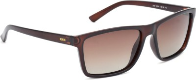 IDEE IDEE S2087 C3P 57 Wayfarer Sunglasses(Brown)