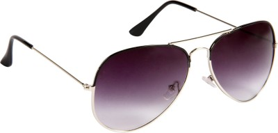 Cristiano Ronnie Silver with Black Enamel Aviator Sunglasses