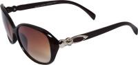 Veins VIBrownSG0026 Oval Sunglasses(Brown)