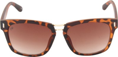 Funky Boys 3037-C4 Rectangular Sunglasses(Brown)
