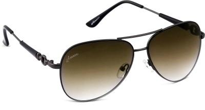 Amaze Brown Gradiant Medium Aviator Sunglasses