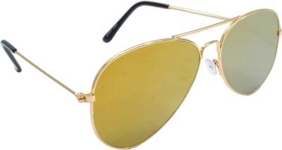 Sellebrity Elegant Golden Aviator Sunglasses Aviator Sunglasses