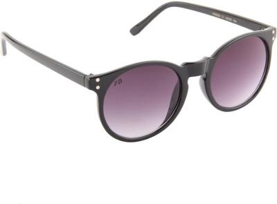 Funky Boys 3032-C1 Round Sunglasses(Violet)