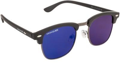 Danny Daze D-2000-C9 Round Sunglasses(Blue)