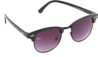 Floz S7754Black Round Sunglasses(Multicolor)
