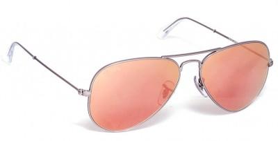 Jewel Fuel Stylish Red Aviator Sunglasses