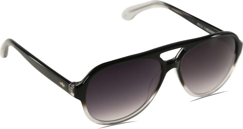 Mango Pickles A-1035-Black-Crystal Aviator Sunglasses(Black)