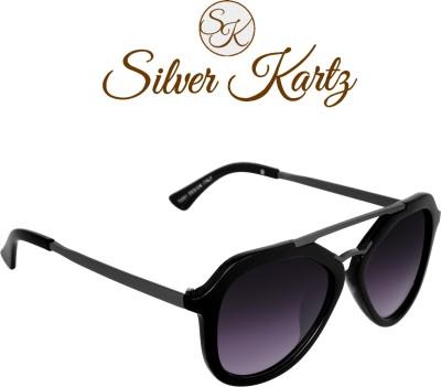 Silver Kartz Wayfarer, Rectangular Sunglasses