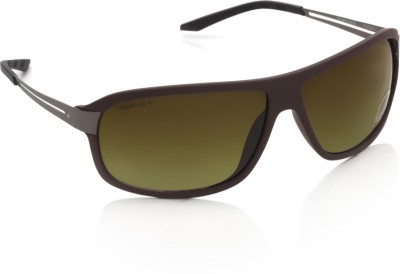 Fastrack P262BR2 Rectangular Sunglasses(Brown)