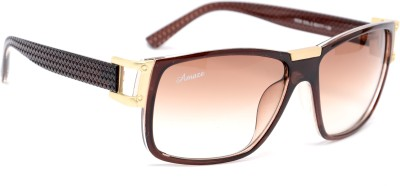 Amaze AM0892 Oval Sunglasses(Brown)