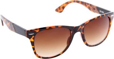 Gansta Gansta ZE-1023 Demi Brown wayfarer sunglass with gradient lens Wayfarer Sunglasses(Grey)