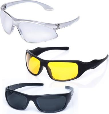 OTC Pack of 3 Day & Night Vision Wrap-around Sunglasses