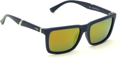 Image 478-C4P Red Mirror Polarized Medium 55mm Wayfarer Wayfarer Sunglasses(Red, Yellow) at flipkart