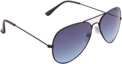 Gansta Cool Blue Aviator Sunglasses