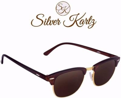 Silver Kartz Luxury Clubmaster Wayfarer Sunglasses