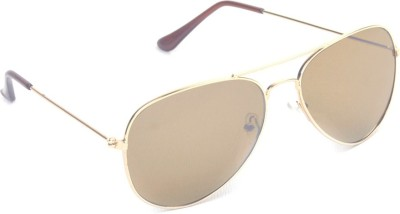 6by6 SG471 Aviator Sunglasses(Brown)