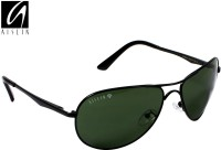 Aislin AS-8083DH-5-BLK Aviator, Wrap-around Sunglasses(Green)