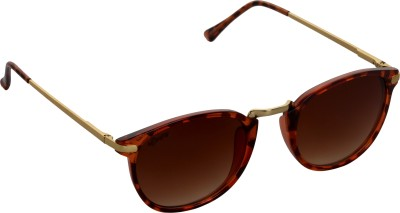 Affaires A-421 Brown Oval Sunglasses