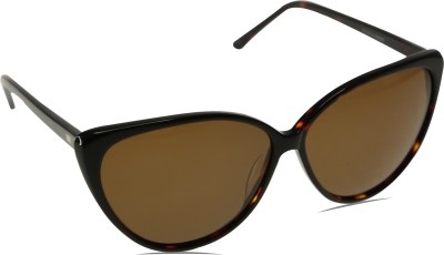 Mango Pickles C-3002-Brown-Demi Cat-eye Sunglasses(Brown)