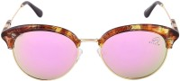 Aislin AS-9006-7-LFPKLG177 Round Sunglasses(Pink, Green)