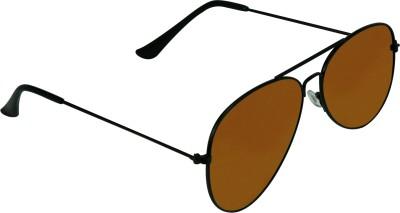 Garmor (8903522114632 /Brown Color Black Frame) Aviator Sunglasses