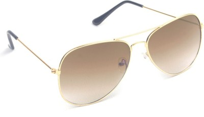 6by6 SG478 Aviator Sunglasses(Brown)
