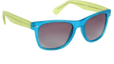 Cristiano Ronnie Stylish Blue frame with green color sides & gradient lenses Wayfarer Sunglasses