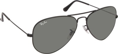 Ray-Ban RB3025I 002/37 58 & 0RB3025I 002/37 58 Aviator Sunglasses(Green) at flipkart