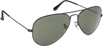 Ray-Ban RB3025002/58 Aviator Sunglasses(Green) at flipkart