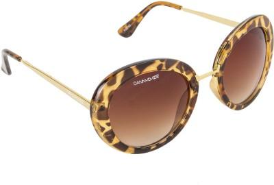 Danny Daze D-2122-C2 Round Sunglasses(Brown)