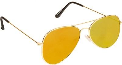 Danny Daze D-704-C6 Aviator Sunglasses(Yellow)